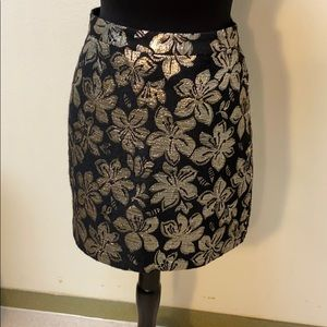 Alice and Olivia black and gold mini skirt